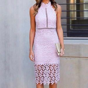 NEW Nordstrom lace pink halter dress Bardot 10